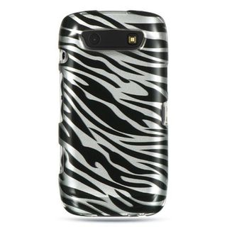 Insten Silver/ Black Hard Snap-on Rubberized Matte Case Cover For BlackBerry Torch 9850/ 9860