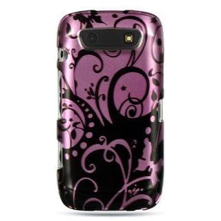 Insten Purple/ Black Hard Snap-on Rubberized Matte Case Cover For BlackBerry Torch 9850/ 9860