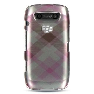 Insten Pink/ Silver Hard Snap-on Rubberized Matte Case Cover For BlackBerry Torch 9850/ 9860