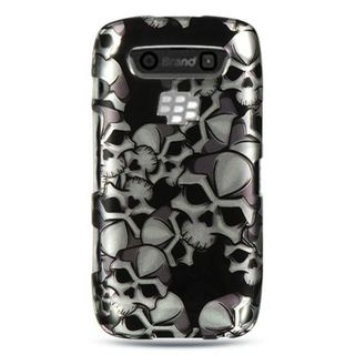 Insten Black/ White Hard Snap-on Rubberized Matte Case Cover For BlackBerry Torch 9850/ 9860