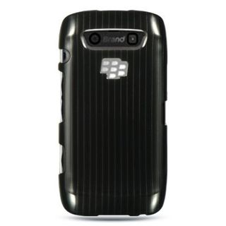 Insten Black Hard Snap-on Rubberized Matte Case Cover For BlackBerry Torch 9850/ 9860