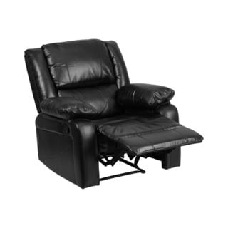Offex Contemporary Design Harmony Series Black Leather Recliner