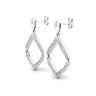 Sterling Silver 1/5ct TDW Diamond Dangle Earrings