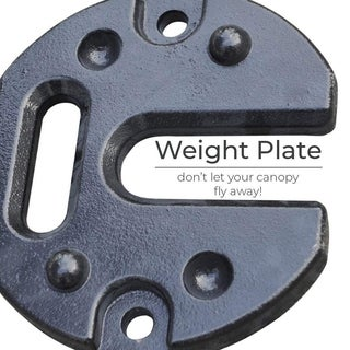 Abba Patio 18lbs. Shade Canopy Leg Steel Weight Plate, 1 Piece
