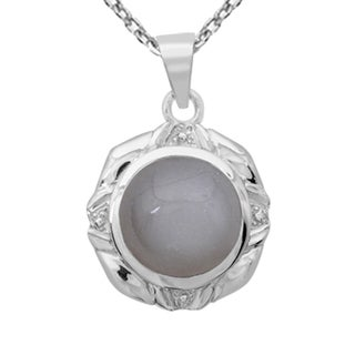 Orchid Jewelry 925 Sterling Silver 10 Carat Grey Moonstone Necklace