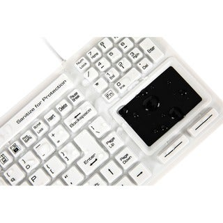 "Wetkeys SaniType Washable ""Touchpad Plus"" Hygienic Keyboard w/ Touchp"