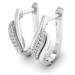 Sterling Silver 1/10ct Diamond Hoop Earrings