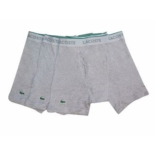 Lacoste Men's Grey Cotton Boxer Brief 3-pack