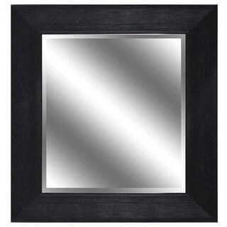 Y-Decor REFLECTION 23 x 27 x 1-inch Bevel Mirror with 3.75-inch Dark Bronze Wood Grain Color Frame