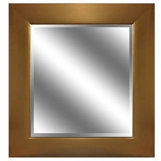 REFLECTION 23 x 27 x 1-inch Bevel Mirror with 3.75-inch Gold Color Frame