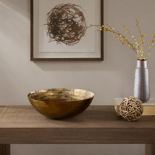 INK+IVY Orly Brass Handmade Disk Bowl-Medium