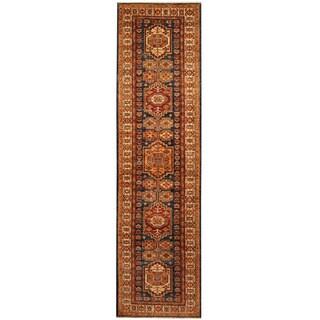 Herat Oriental Afghan Hand-knotted Tribal Super Kazak Wool Runner (2'8 x 10'3)
