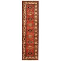 Handmade Herat Oriental Afghan Tribal Super Kazak Wool Runner (Afghanistan) - 2'9 x 9'10