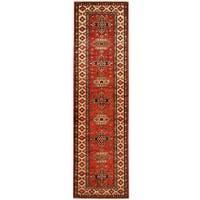Herat Oriental Afghan Hand-knotted Tribal Super Kazak Wool Runner (2'8 x 9'9)