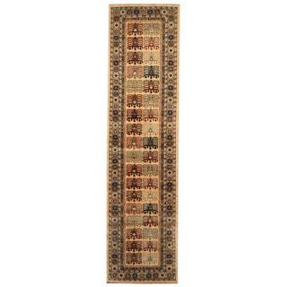 Herat Oriental Afghan Hand-knotted Tribal Super Kazak Wool Runner (2'7 x 10')