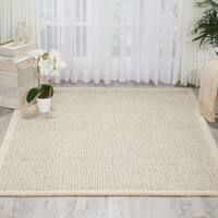 kathy ireland River Brook Ivory/Grey Area Rug by Nourison - 7'9 x 9'9'