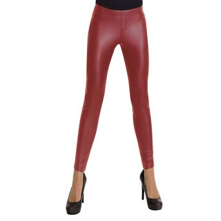 Memoi Women's Pleather Legging