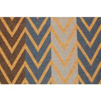 Multi-Color Chevron Coir Doormat (20 x 46)