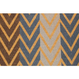 Multi-Color Chevron Coir Doormat (20 x 46)