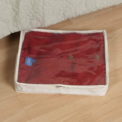 2-pk. Natural Lightweight Canvas Sweater Storage Bag - 8'' x 9'' x 7''