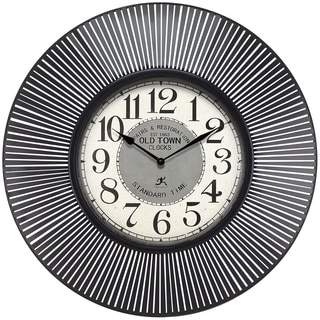 Infinity Instruments Old Town Standard; a 31.5-inch Round Indoor Wall Clock