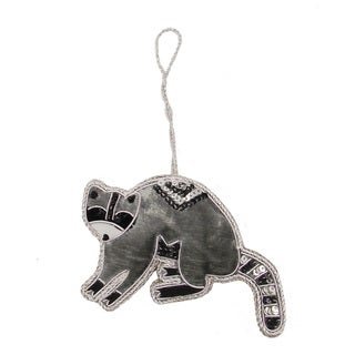 Handmade Raccoon Holiday Ornament (India)