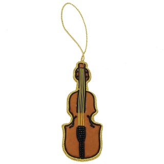 Handmade Violin Holiday Ornament (India)