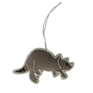 Handmade Triceratops Holiday Ornament (India)
