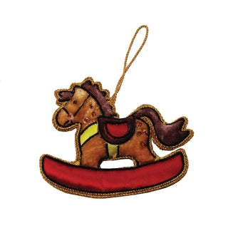 Handmade Rocking Horse Holiday Ornament (India)