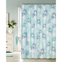 Floral Charm Printed Waffle Shower Curtain