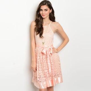 Shop The Trends Women's Spaghetti Strap Lace Skater Dress