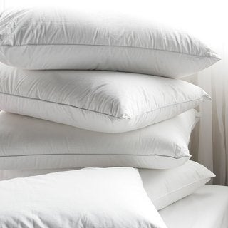100-percent Cotton Hypoallergenic Down Alternative Bed Pillow (Set of 4) - White