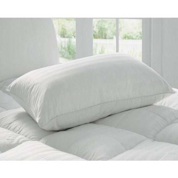 100-percent Cotton Cover Hypoallergenic Bed Sleeping Pillow - White
