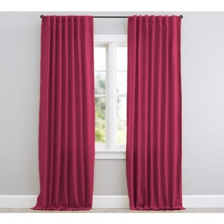 Solid Thermal Blackout Window Curtain Backtab/Rod Pocket Panel Pair