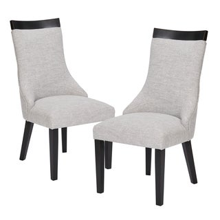 Madison Park Signature Claudet Ebony/ Natural Multi Dining Chair (Set of 2)
