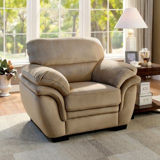 Furniture Of America Lemmy Transitional Plush Microfiber Chair