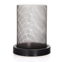 Adeco Cold Metal Gauze Cylinder Candle Holder