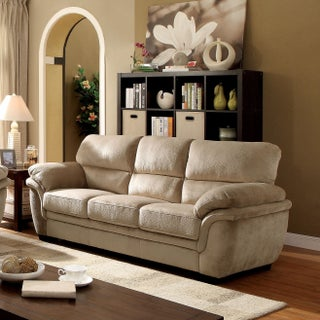 Furniture of America Lemmy Transitional Plush Microfiber Sofa (2 options available)