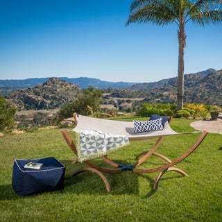 Richardson Outdoor Square Hammock with Stand by Christopher Knight Home