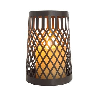 2017 New Adeco Modern Contemporary Style Web Pattern Metal Candle Holder