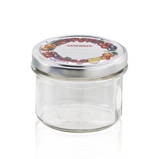 Leifheit Large Turn Out Glass Canning Jars, 6 pack