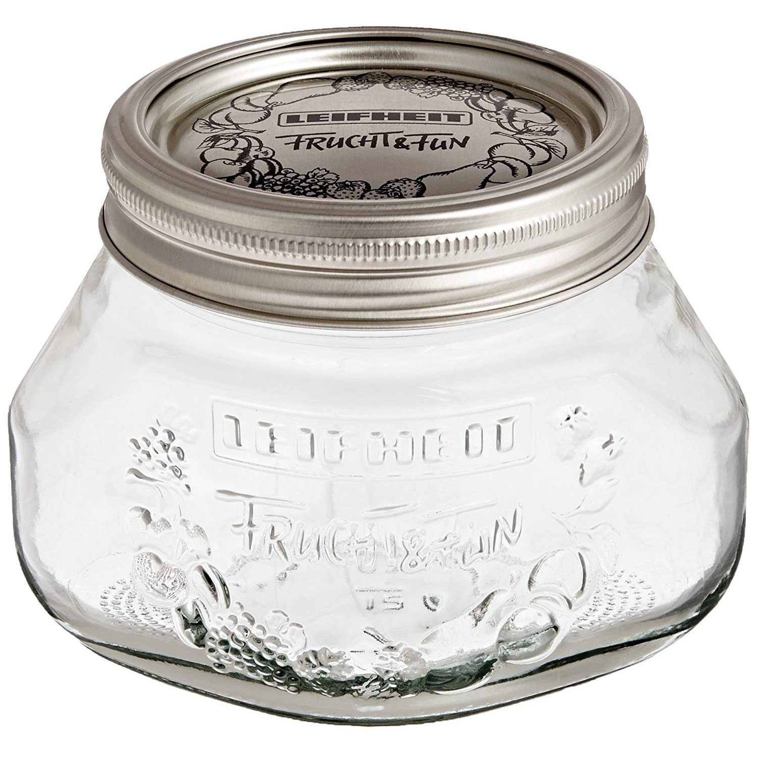 Leifheit Small Mason Jar, 6 pack (12 x 8.5 x 3.5 inches, ...