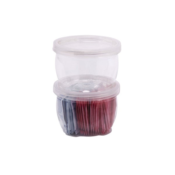 12 Piece 8 Ounce Lock Up Storage Container Set   Free Shipping On Orders  Over $45   Overstock.com   20694335