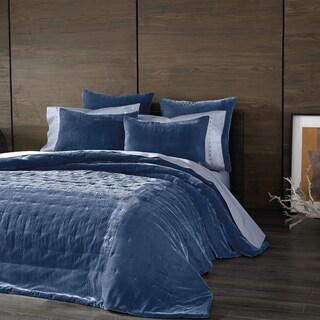 Kevin O'Brien Cirrus Periwinkle Velvet Coverlet (3 options available)