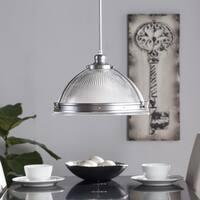 Harper Blvd Ellendale Half Globe Pendant Lamp - Satin Chrome