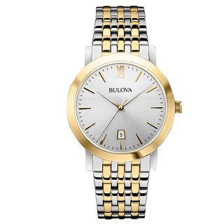 Bulova Men's 98B221 Two-Tone Dress Watch|https://ak1.ostkcdn.com/images/products/14083942/P20694381.jpg?impolicy=medium