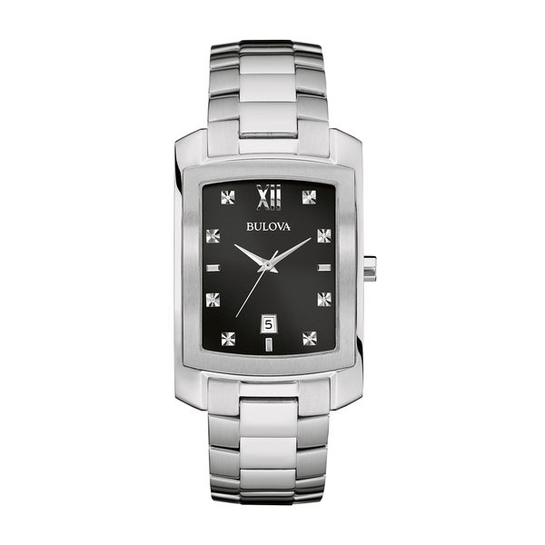 Bulova Men's Diamond Watch - Silver