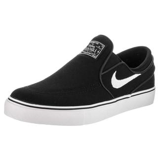 Nike Kids Stefan Janoski Black Canvas Slip Skate Shoe