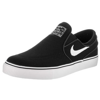 Nike Kids Stefan Janoski Black Canvas Slip Skate Shoe