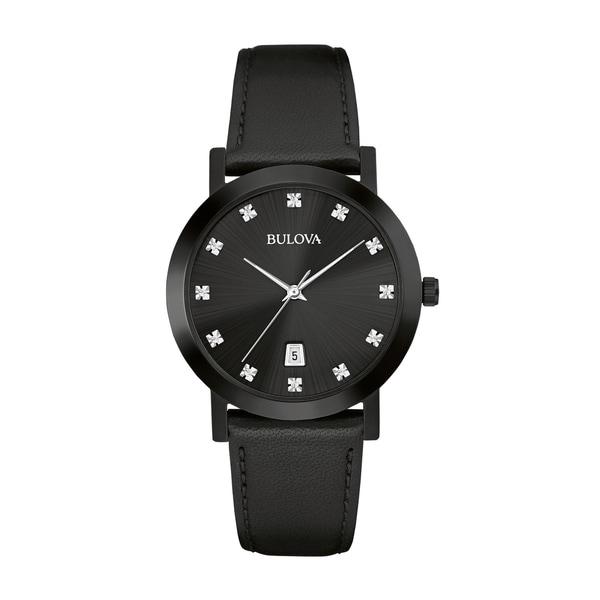 Bulova Men's Diamond Watch - Black